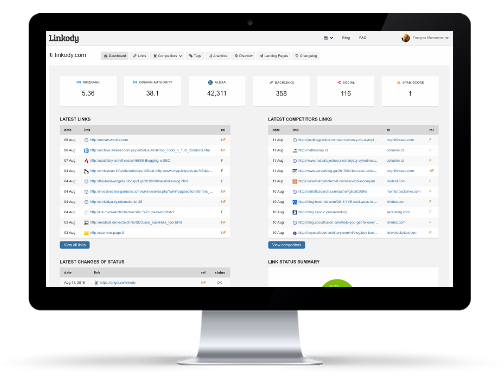 Backlink Tracker by Linkody